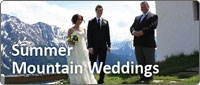 Summer mountain weddings